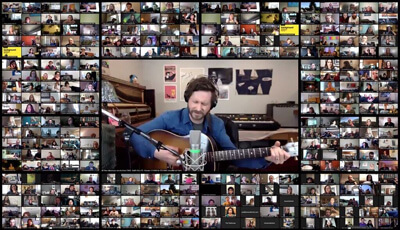lots of video calls of musicians